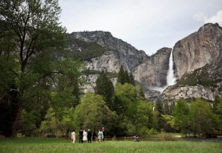 Intimate destination wedding in Yosemite