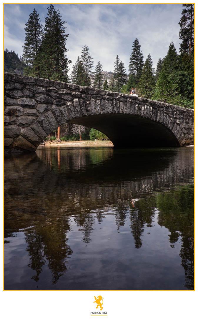 Yosemite Elopement on bridge